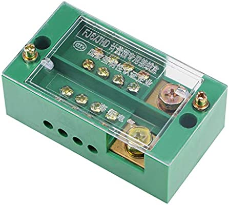 uxcell 2 Inlet 4 Outlet Terminal Strip Blocks 660V 150A Single Phase Distribution Block for Metering Box