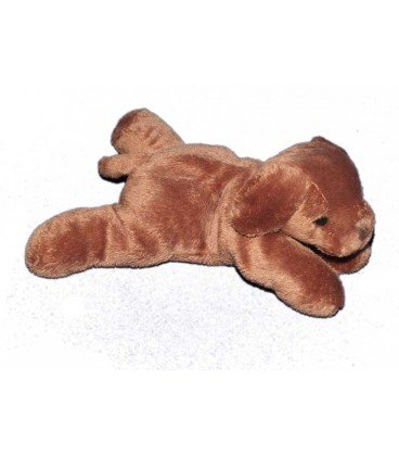 Doudou Chien marron brun Max and Sax 20 cm Carrefour NEUF ...