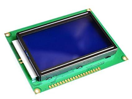 Graphic Dot Matrix LCD 12864, 128 x 64 Pixel, blue/white