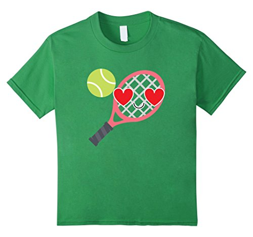 Kids Tennis Emoji Love & Heart Eye Shirt Soft Serve T-Shirt Tee 10 Grass (Tennis Player Costumes)