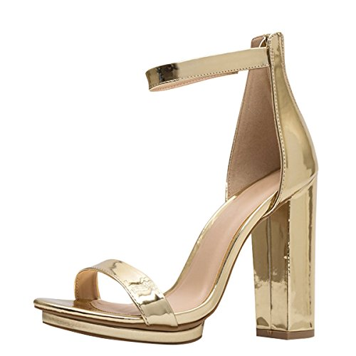 Ankle Strap Platform Pump Shoes - 4