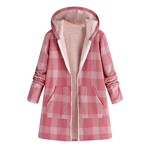 od Parka Overcoat Plaid Print Pocket Vintage Oversize Coat ()