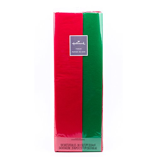 Hallmark Tissue Paper (Red and Green, 100 Sheets)