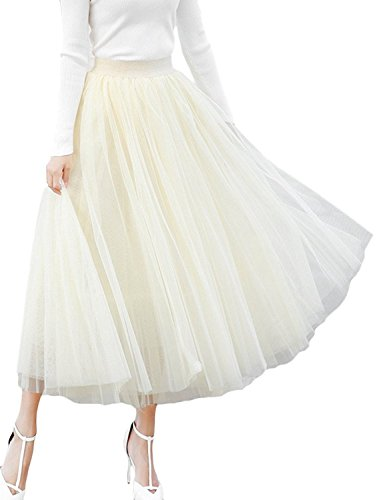 Women's A-line Mesh Tulle Skirts with Stretch High for sale  Delivered anywhere in USA