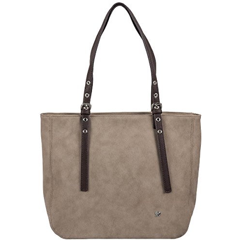 Tom Tailor Denim Tamia Shopper Bolso totes 50 cm Taupe