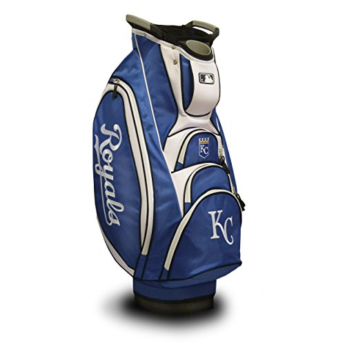 Team Golf MLB Kansas City Royals Victory Golf Cart Bag, 10-way Top with Integrated Dual Handle & External Putter Well, Cooler Pocket, Padded Strap, Umbrella Holder & Removable Rain Hood