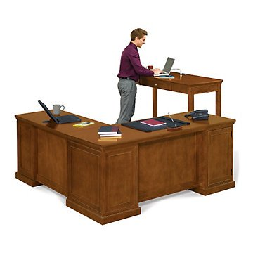 the latest 97672 a247c Amazon.com: L-Shaped Desk and Standing Height Desk Set ...