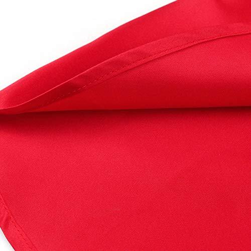 3XL damigella maniche in Abito Colore d senza donna da Red Dimensione vqwSfH