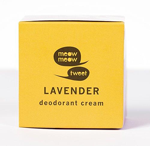 Meow Meow Tweet, Lavender Deodorant Cream, 2.4 oz.