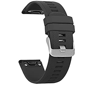 SKYLET Garmin Fenix 5 Bands, Quick Fit Silicone Replacement Accessories Straps for Garmin Fenix 5/Forerunner 935 GPS Watch (Watch Not Included)