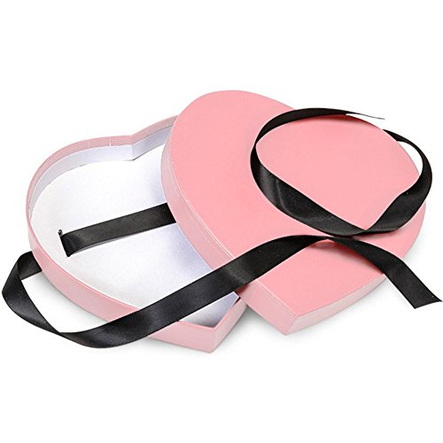 Pink Small Matte Heart Shaped Boxes - 6 3/4 x 6 1/8 x 1 1/4in. - 30 Pack by NW