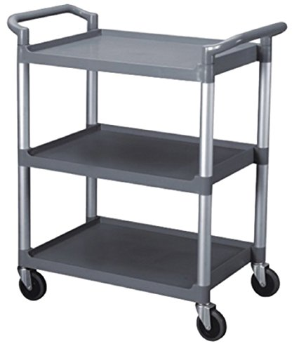 BUS CARTS BLACK & GREY MADE FOR CLEAN UP, TRANSPORT BINS WITH CASTERS AND LOCKING CASTERS (40.5