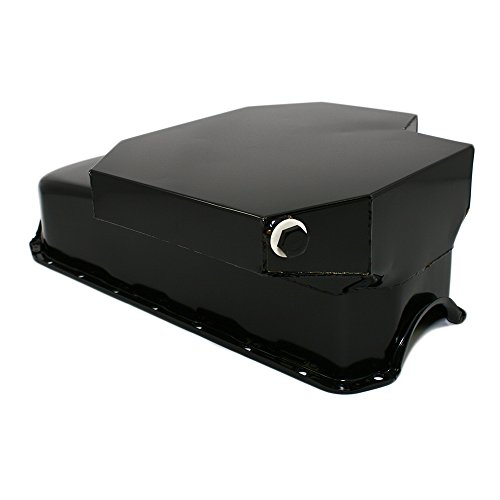 Champ Oil - Assault Racing Products A7101P Chevy Small Block Black Champ Style 7qt Oil Pan 2-piece Rear Main 327 350 400