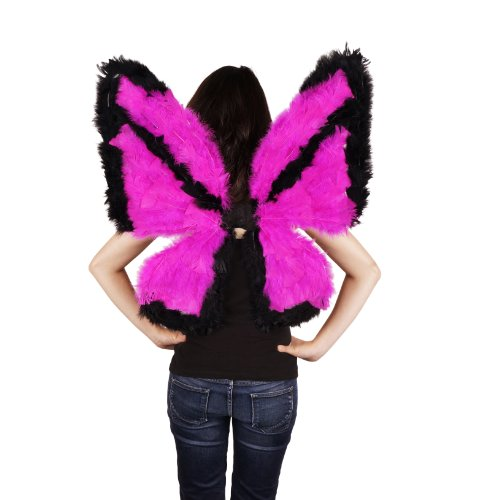 Zucker Feather Products Day-Glo Butterfly Wings (Pink Butterfly Adult Wings)