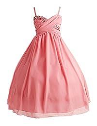 iGirlDress Little Girls Ruched Top Chiffon Long Flower Girls Dresses 2-20