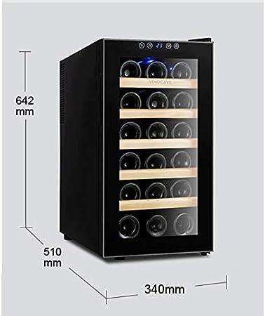 JJSFJH Encimera Enfriador de Vino termoeléctrico Nevera con Digital Pantalla de Temperatura - Independientes Frigorífico Puerta de Cristal y Funcionamiento silencioso