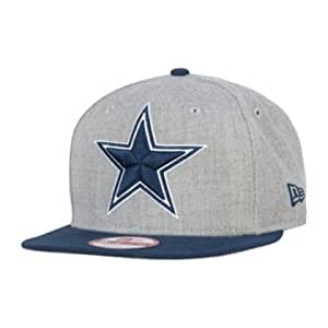 5d2e68a969b Amazon.com   Dallas Cowboys LOGO GRAND Gray SNAPBACK 9Fifty New Era ...