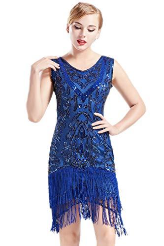 Babeyond 1920s Flapper Dress Long Fringed Gatsby Dress