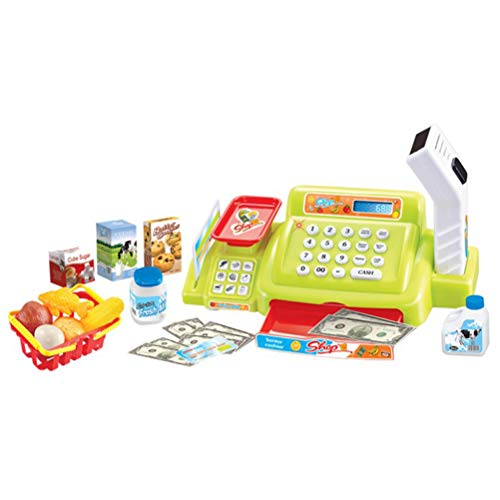 STOBOK Caja Registradora de Jguete para Niños Juego de Caja Registradora con Sonido y Luz para Niños Pequeños (Color...