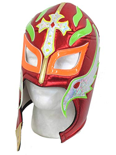 Rey Mysterio Lucha Libre Wrestling Mask (pro-fit) Costume Wear- Red ()