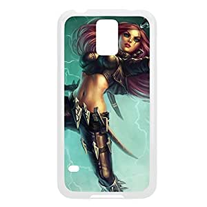 Katarina-001 League of Legends LoL case cover Samsung Galaxy Note2 N7100/N7102 - Plastic White
