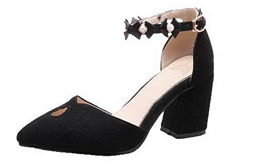 Black VogueZone009 Sandals Heels Materials Blend Women Kitten RwqYU6R