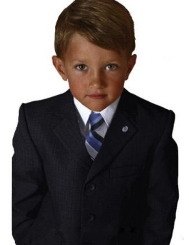 Johnnie Lene Boys Textured Suit Set