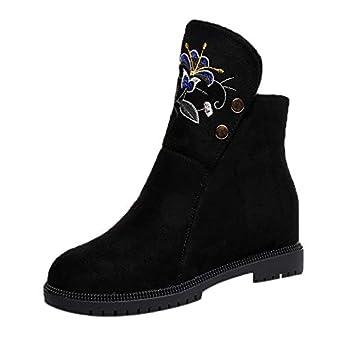 Damen Schuhe Boots Frauen Stiefel Motorradstiefel Knöchel LMSUpGjzVq