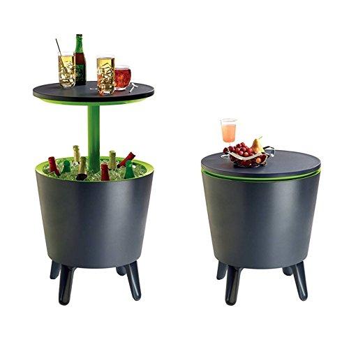 Keter Cafe- und Loungetisch, Cool Bar, grau / weiß, 49,5 x 49,5 x 84,5 cm, 17186745