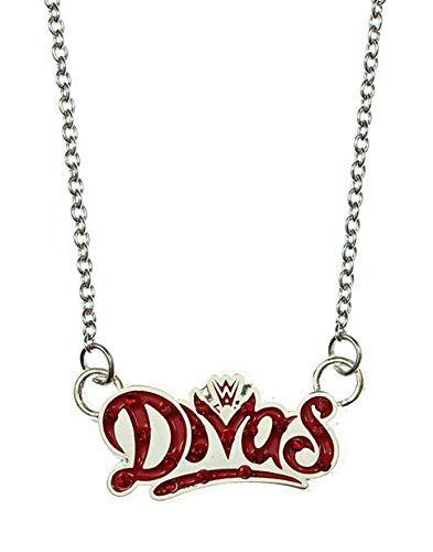 WWE Divas Logo Bling Pendant Stainless Steel Necklace by INOX