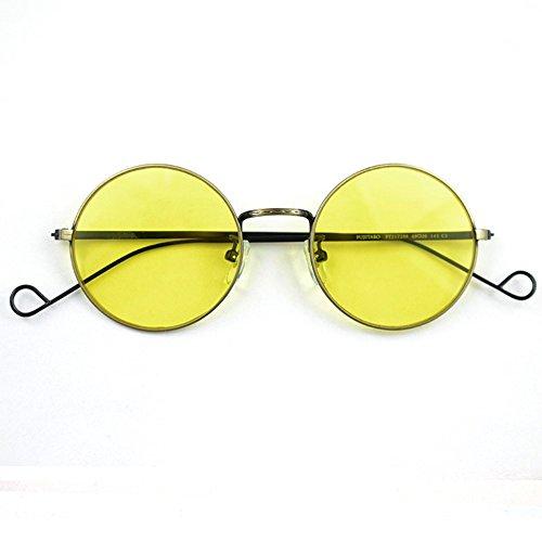Lunettes 6 en femmes rondes transparent Lunettes verre Cadre de et de lunettes lunettes nbsp; pour jaune main la soleil de soleil métal soleil Shop en soleil Jaune Vif nbsp; nbsp;film de nbsp;antique hommes nbsp;jaune à nbsp; faites pIdxw1I6