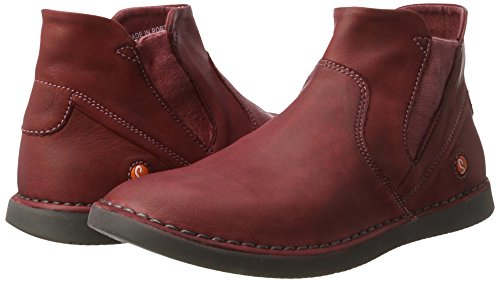 scarlet Softinos Tep413sof 000 Boots Women''s Chelsea Red Washed 5RRxYqw8