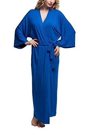 Original Kimono Solid Colored Bathrobe Nightgown