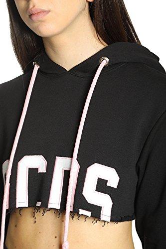 Mujer Gcds Algodon Ss18w02001102 Ropa Negro AxqSF8w