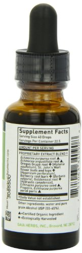 Gaia Herbs Echinacea Goldenseal Supreme 1-Ounce Bottle Pack of 4