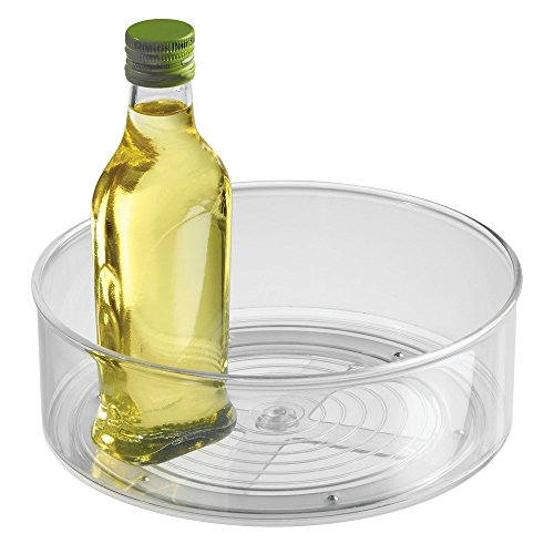 InterDesign Lazy Susan Turntable Spice Organizer Bin For Kitchen Pantry, Cabinet, Countertops, Clear by InterDesign (Image #2)