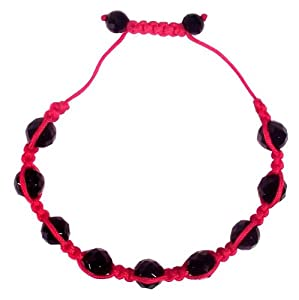 Evil Eye Bracelet 'Shamballa' Black & Red