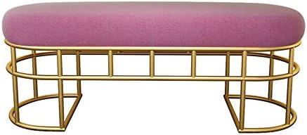 収納ベンチ ゴールドメタル美脚ホームモールソファロングベンチオスマンフットレストスツール座と 柔軟 多用途 (Color : White, Size : 100x40x45cm)