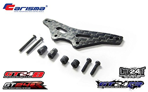 Carisma 15424 GT24B Graphite Front Shock Tower Set Replacement Parts