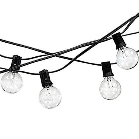 Amazon Com Outdoor String Lights 25 Ft String Light Warm White
