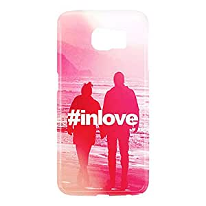Loud Universe Samsung Galaxy S6 3D Wrap Around Hashtag In Love Print Cover - Multi Color