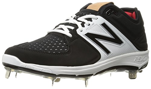 New Balance Men's L3000V3 Baseball Shoe, Black/White, 10.5 D US