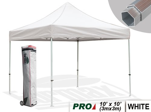 Eurmax Pro 10 X 10 Ez Pop up Instant Outdoor Canopy Party Tent Commercial Grade Aluminum Frame Gazebo Bonus Roller Bag