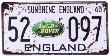 Eureya Retroschild Aus Metall Für Zuhause Café Bar Wanddekoration Auto Fahrzeug Kennzeichen Sunshine England 52 097 6 X12 Küche Haushalt
