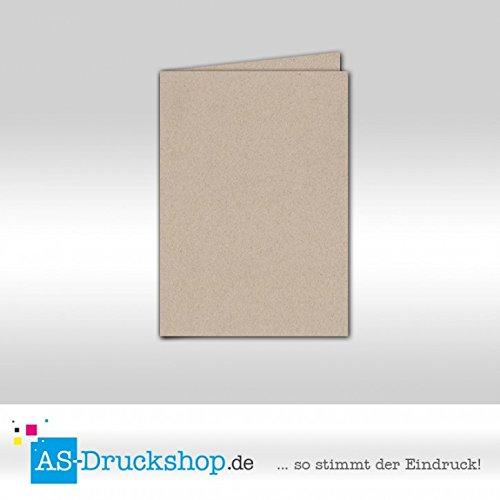 Faltkarte Doppelkarte - Desert - Naturfarbe 50 Stück DIN A5 A5 A5 B0794XSPW1 | Moderater Preis  b3d727