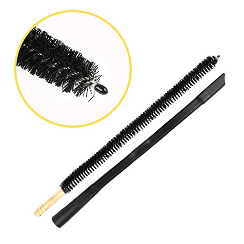 """Houseables Dryer Vent Cleaning Kit, Lint Removal Brush & Hose, 29.75"""", 2 PCS, Black, 24.5"""", Wood, Rubber, Flexible Vacuum Cleaner Attachment, For Duct, Refrigerator, Crevice, Filter, Under ()"""
