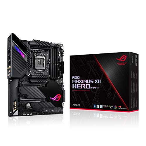 Asus ROG Maximus XII Hero Z490 (WiFi) LGA 1200 (Intel 10th Gen) ATX Gaming Motherboard - 90MB12R0-M0EAY0