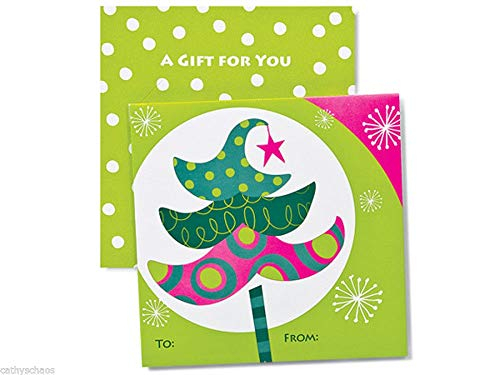 Celebration Trees Holiday Card Holders Paper Die Cut Insert ()
