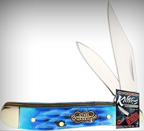 Frost SW107CBJ Little Peanut Cancun Blue Mirror Folding Limited Elite Knife 2 Blades Folder + free eBook by ProTactical'US ()