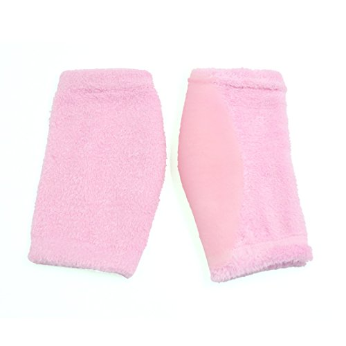 2 Pairs Soften Dry Cracked Skin Moisturizing Exfoliating Elbow Gel Cover Sleeves Pink by uxcell (Image #3)
